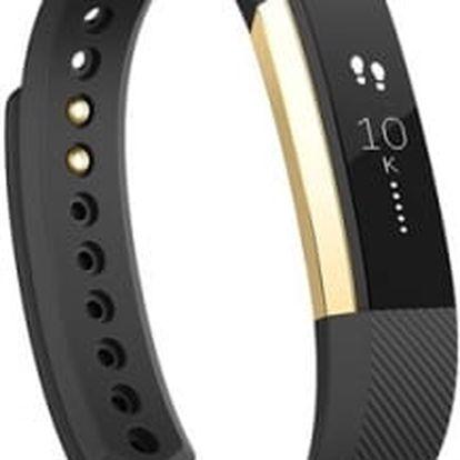 Fitness náramek Fitbit Alta large (FB406GBKL-EU) černý/zlatý