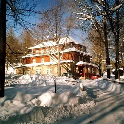 Zimní pobyt pro dva v horské chatě Ozon s polopenzí a slevami. K dospozici kulečník a šipky.