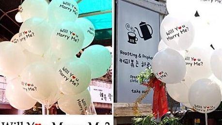 Romantické balónky Vezmeš si mě? 100 ks