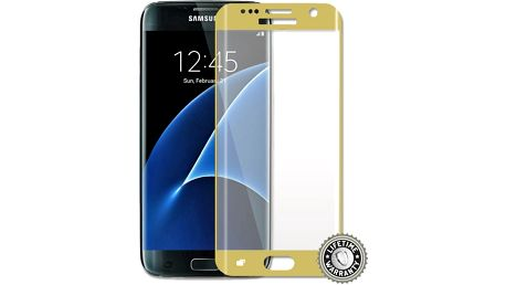 ScreenShield ochrana displeje Tempered Glass pro Galaxy G935 Galaxy S7 Edge, zlatá - SAM-TGGG935-D