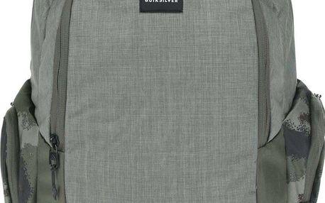Khaki pánský batoh s bočními kapsami Quiksilver Schoolie