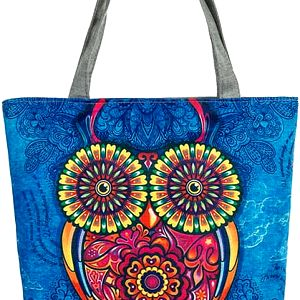 Fashion Icon Dámská taška Fuchsia Sova modrá