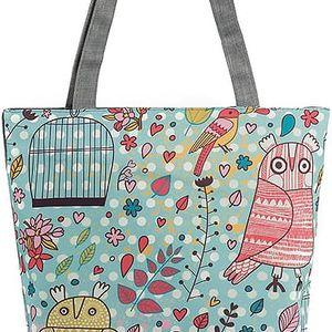 Fashion Icon Plátěná taška sovy v kleci