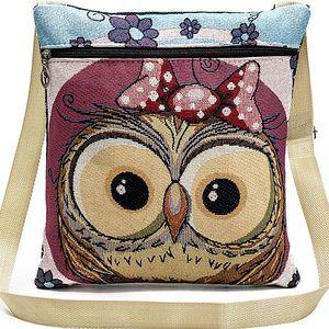 Fashion Icon Kabelka Pink Owl crossbody přes rameno