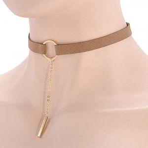Kombinovaný choker náhrdelník s přívěskem - 4 varianty