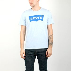 Tričko LEVI'S Housemark Graphic Tee M Modrá