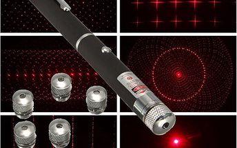 Laserové ukazovátko s pěti nástavci