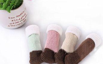 Bavlněné ponožky na židle - 4 kusy
