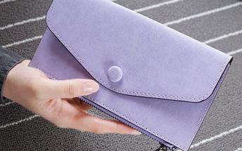 Prostorná a podlouhlá peněženka v jednoduchém stylu - 6 barev