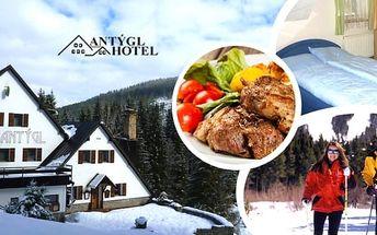 Šumava v zimě pro dva na 3 nebo 4 dny v rodinném hotelu Antýgl s polopenzí kousek od řeky Vydry. Oblast jako stvořená pro vyznavače zimních sportů, upravené běžecké tratě i nedaleké skiareály vybízí ke strávení příjemné dovolené.