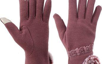 Dámské rukavice s dotykovým prstem - 2 barvy