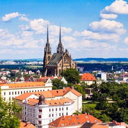 Brno v penzionu nedaleko centra s polopenzí