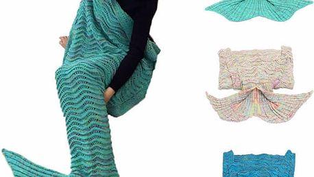 Háčkovaný spací pytel - Ocas mořské panny