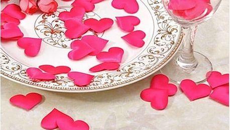 Zamilovaná dekorace Srdíčka 100 ks