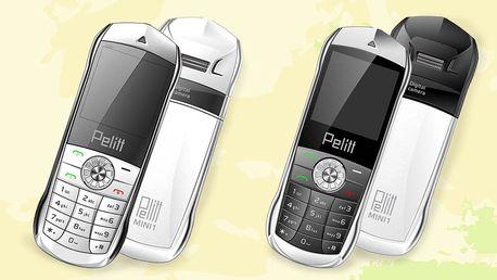 Pelitt Mini1 - dual SIM telefon v kovovém kabátku