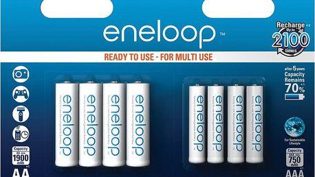 Panasonic Eneloop HR6 1900mAh + HR03 750mAh 8BP - 35046996