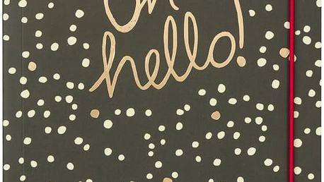 Linkovaný zápisník B5 Portico Designs Hello, 80 stránek