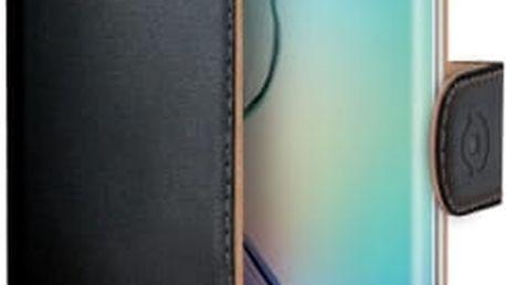 Pouzdro na mobil flipové Celly pro Galaxy S6 Edge (WALLY491) černé