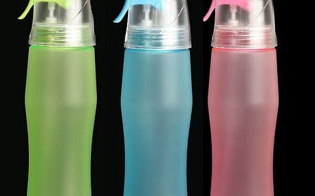 Sportovní lahev a osvěžovací sprej v jednom - 3 barvy