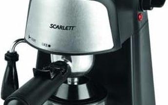 Espresso Scarlett SC 037 černé/stříbrné