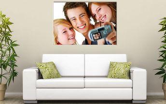 Fotoobraz z vlastní fotografie na kvalitním plátně s rámem ze dřeva, výběr ze 5 rozměrů