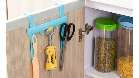 Závěsná lišta s háčky do kuchyně - 3 barvy