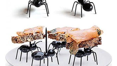 Napichovátka na jednohubky v podobě mravenců - 12 ks