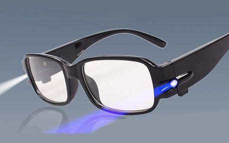 Brýle na čtení s LED diodami