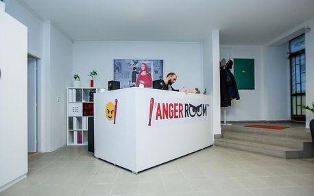 Anger room: antistresové centrum. Odstranění vzteku a frustrace. Hudba dle výběru, káva zdarma