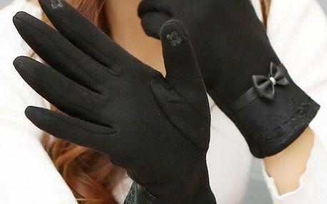 Dámské rukavice na dotykový displej - dodání do 2 dnů