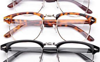 Unisex brýle v módním rovném designu - varianta 2