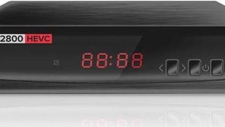 DVB-T přijímač ALMA 2800 s DVB-T2 s HEVC (H.265) černý + Doprava zdarma