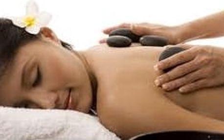 Hřejivá relaxace - masáž lávovými kameny záda + šíje - SKVĚLÝ VÁNOČNÍ DÁREK