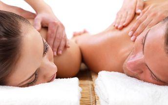 Wellness balíček pro dva: Masáž celého těla, lávové kameny v délce 55 minut