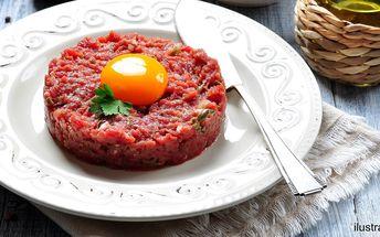 Tatarský biftek s křupavými topinkami pro 2