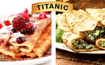 50% sleva na francouzské sladké i slané palačinky v restauraci Titanic