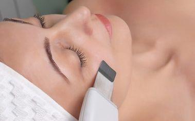 Kosmetické ošetření pleti ultrazvukovou špachtlí s možností zábalu: až 60 minut péče