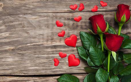 Valentýnské růže nebo barevné tulipány