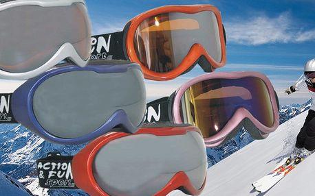 Brýle na lyže či snowboard s nemlžící úpravou