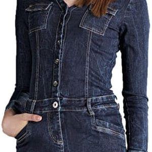Edward Jeans Dámský šaty Lineisy-3052 Denim 16.1.2.85.012 M