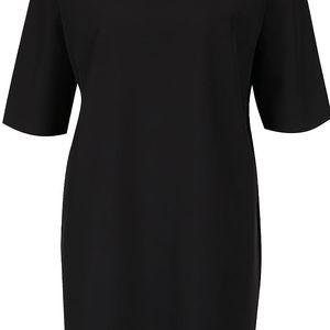 Černé softshellové oversize šaty Lemur