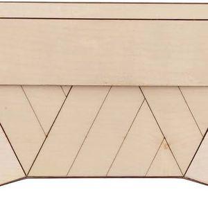 Krémové dřevěné psaníčko VAKA Borovica