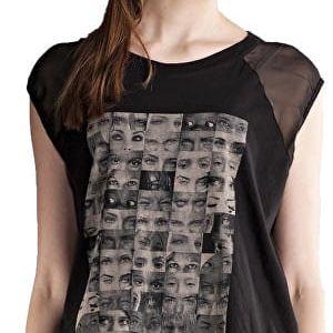 Edward Jeans Dámské triko Henley Top 16.1.2.01.083 L