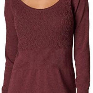 Prana Dámské úpletové šaty Zora Dress Raisin M
