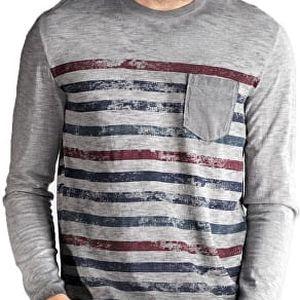 Edward Jeans Pánské triko s dlouhým rukávem Normi T-Shirt 16.1.1.01.074 XL