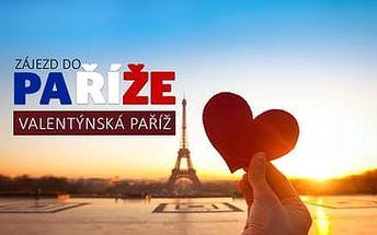 4-denní zájezd do Paříže v týdnu svátku zamilovaných 16. - 19.2.2017 za 2099 Kč za os. včetně dopravy a ubytování se snídaní v ceně