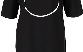 Černé oversize šaty se svítícím potiskem Lemur