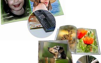 Fotokniha nebo fotosešit v kvalitním provedení. Až 104 stran Vašich zážitků na kvalitním papíře.