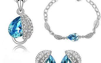 Sada třpytivých šperků Leaves - VÝPRODEJ