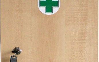Lékárnička dřevěná 330x230x120mm prázdná